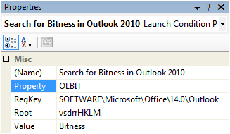 Getting the Outlook bitness (OLBIT):